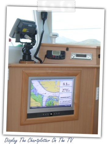 Display The Chartplotter On The TV